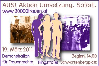 Demonstration für Frauenrechte