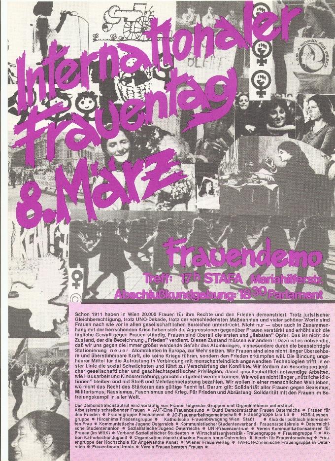 1982 Flugblatt 8. März 1 Vorderseite