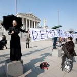 Flashmob vor dem Parlament