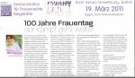 Schmelztiegel März 2011 100Jahre Int. Frauentag, vr