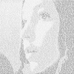 A photo montage made of text