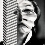 VALIE EXPORT Selbstporträt mit Stiege und Hochhaus