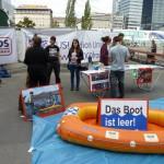 Bootsaktion zum Weltflüchtlingstag am 20. Juni 2011