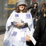 Straßenaktion gegen Korruption / Mariahilferstraße