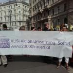 Plattform 20000frauen bei der Demo